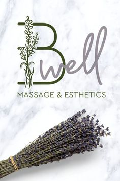 B-Well Spa Brand Identity | EyeSavvy Design | Brand Identity, Lavender Logo, Spa Branding #logo #brand #businescards #buildyourbrand #lavender #spalogo