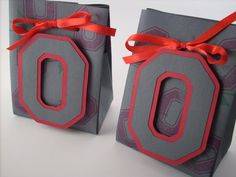 Ohio State Gift Bag - OSU Buckeyes Favor bags Gift Bags Set of 2. $5.00, via Etsy.