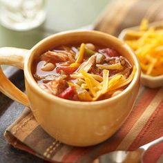 Chicken Fajita Chili from Diabetic Living #myplate #protein #vegetables #slowcooker