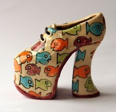 Find Fishy Platform Shoe in the Ceramics and Pottery - Miniature category on Shamza