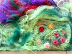 Le blog d'une maman bio: Bricolage en cours: un tapis de jeu en laine feutr...