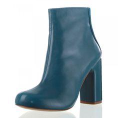 SCHUMACHER Damen Stiefeletten Tone, echtes Leder, Absatz 8 cm blau
