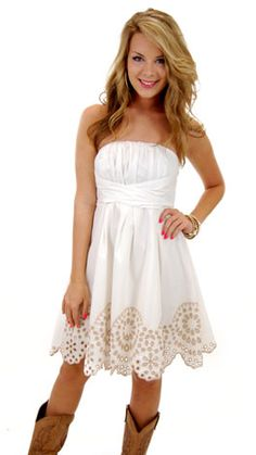 Love it, but we all know dresses don't stay white. :)  Maybe another color...