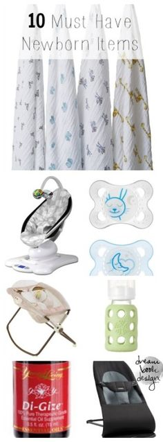 A great list of the top 10 Newborn Item MUST haves! I couldn't have survived the newborn stage without these things!