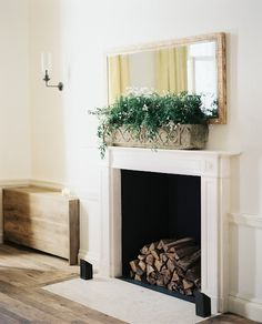 Simple elegant fireplace