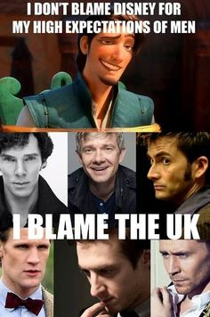 matt smith tangled Arthur Darvill martin freeman David Tennant Benedict Cumberbatch uk tom hiddleston Flynn Rider