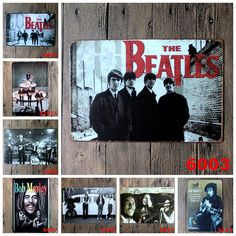 The Beatles Bob Marley Retro Tin Art Wall Decor Distress Metal Tin Signs for Home Office Bistro Store Decor