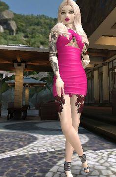 Avakin Life, Bodycon Dress, Dresses, Fashion, Beautiful Flowers, Women's Work Fashion, Women's, Outfits, Drawings