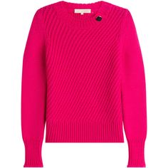 Vanessa Bruno Merino Wool Pullover ($395) ❤ liked on Polyvore featuring tops, sweaters, pink, pullover sweaters, merino sweater, pink pullover, fuschia top and round neck top