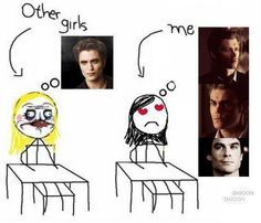 The Vampire Diaries :) so much better than twilight!!