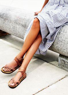 Stripes & sandals