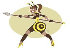 Bee queen warrior