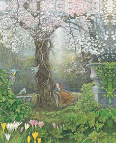 "Inga Moore, The Secret Garden ""The Secret Garden"" is one of my favorite childho. - Inga Moore, The Secret Garden ""The Secret Garden"" is one of my favorite childhood books. Garden Drawing, Garden Painting, Garden Art, Garden Design, Garden Ideas, Art And Illustration, Book Illustrations, The Secret Garden, Secret House"