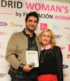 Antonio Orozco y Carmen M. García. Premio 2014 como Artista con Corazón de Madrid Woman's Week. (Foto: Julia Martínez)