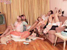 I'm having a slumber party.. I want a pinup... Man bashing... Wine guzzling... Whiskey shooting SLUMBER PARTY!!!