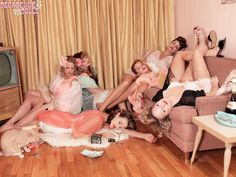 I'm having a slumber party.. I want a pinup... Man bashing... Wine guzzling... Whiskey shooting SLUMBER PARTY!!!