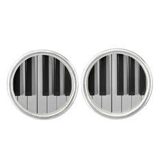Piano Keyboard Custom Cufflinks--#cufflinks #fashion #accessories #piano #keyboard #musician #music #Zazzle