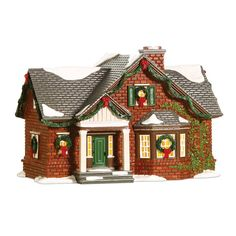 The Original Snow Village Nokomis House 804442 Christmas Tree Village, Elf Christmas Decorations, Christmas Village Collections, Christmas Villages, Christmas Crafts, Xmas, Halloween Labels, Halloween Halloween, Vintage Halloween