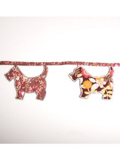 Sass and Belle Scottie Dog Fabric Bunting