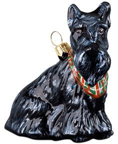 Joy to the World Scottish Terrier with Bandana Pet Charity Ornament - Christmas Ornaments - For The Home - Macy's
