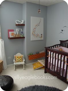 shelves like this would be great for nursery when it goes back to being a guest room