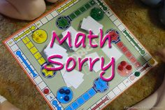 Math Sorry out of recycled game board - can add cards for order of operations, adding and subtracting fractions, adding and subtracting decimals