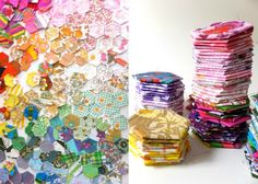Hexagon patchwork template and instructions