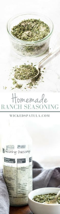 This Homemade Ranch Seasoning is free of junk, dairy, MSG, and preservatives. You can use it for dressing or as an all-purpose mix. Allergy Free Recipes, Paleo Recipes, Gourmet Recipes, Real Food Recipes, Cooking Recipes, Healthy Cooking, Appetizer Recipes, Healthy Food, Dinner Recipes