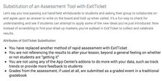SAMR with Exit Ticket: http://exitticket.org/samr-aligned/