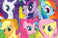 My Little Pony Portraits Bronies 24x36 PosterMy Little Pony Portraits Bronies 24x36 Poster. Will ship rolled and ships fast!