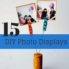 15 DIY Photo Displays