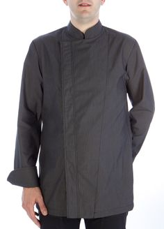 Chaqueta Coll Mao negra #chaquetascocinero #cocina #csty #uniformeshosteleria