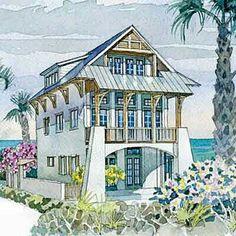 beach cottage plans, coastal plans & coastal beach house plans