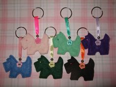 Felt Scottie Dog Keyrings £3.25