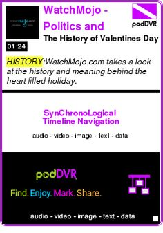 #HISTORY #PODCAST  WatchMojo - Politics and History    The History of Valentines Day    LISTEN...  http://podDVR.COM/?c=422d223e-093a-f4c0-5926-dd34f2072354