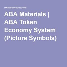 ABA Materials | Token Boards with different characters