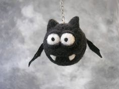 Handmade cartoon funny Bat needle felting soft sculpture toy mobile ooak #CuterLand #AllOccasion Needle Felted Animals, Felt Animals, Nuno Felting, Needle Felting, Felt Crafts, Diy And Crafts, Soft Sculpture, Felt Art, Funny Cartoons