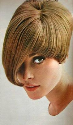 Sharon Tate modeling a wig c.1965