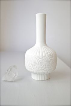 Mid-Century West German Matte White Porcelain Vase by Edelstein Bavaria 60s on Etsy, $125.00