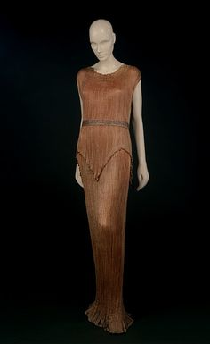 Vintage Dress and belt - Delphos - Mariano Fortuny