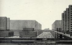Ludwig Hilberseimer 'Hochhausstadt' (1924), a polemical piece of serialism gone beserk.
