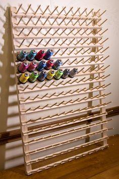 192 Spool Thread Rack-Perfect for larger spools Thread Storage, Sewing Room Storage, Yarn Storage, Sewing Room Organization, Craft Room Storage, Sewing Rooms, Organization Ideas, Storage Ideas, Sewing Room Design