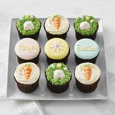 Assorted Easter Cupcakes, Set of 9