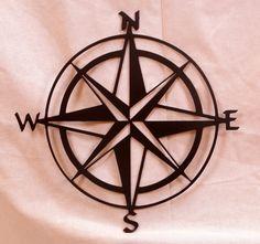 Compass Rose Metal Wall Art by BCMetalCraft on Etsy, $25.00 Nautical Compass, Nautical Star, Compass Rose Tattoo, Handmade Cushion Covers, Handmade Cushions, Rose Tattoos, Dream Tattoos, Tatoos, Sleeve Tattoos