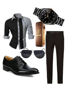 """""""Untitled #37"""" by sabins ❤ liked on Polyvore featuring Dolce&Gabbana, Church's, Rado, BMW, Paco Rabanne, men's fashion and menswear"""