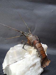 Jizai Okimono Articulated Copper shrimp 1900 circa