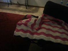 WIP. Ripple crochet blanket