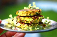Crisp zucchini fritters subtly seasoned with falafel mix. Simple flavorful and naturally gluten free. Zucchini Bites, Zucchini Fritters, Veggie Recipes, Salad Recipes, Vegetarian Recipes, Baked Bbq Chicken Wings, Sweet Potato Fritters, Baked Cauliflower, Vegetarian Breakfast