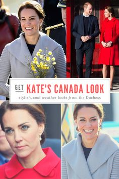 What would Kate wear in Canada? Coats to ward off the cold weather, that's for sure! We have all the details.