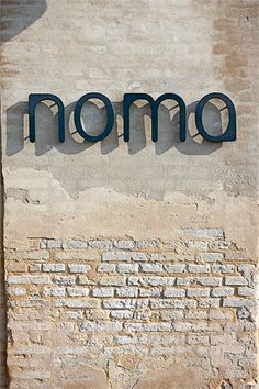 Great font - menu cover inspiration - Noma Restaurant, Copenaghen, 2012 Great font